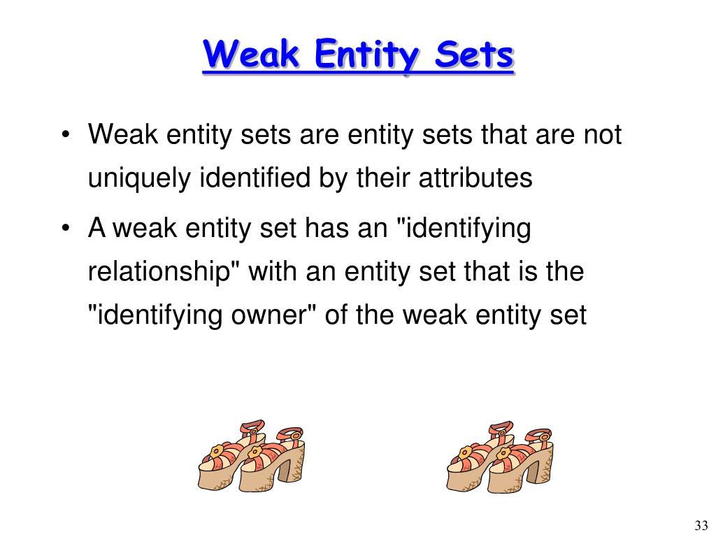 Weak Entity Sets