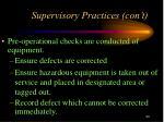 supervisory practices con t