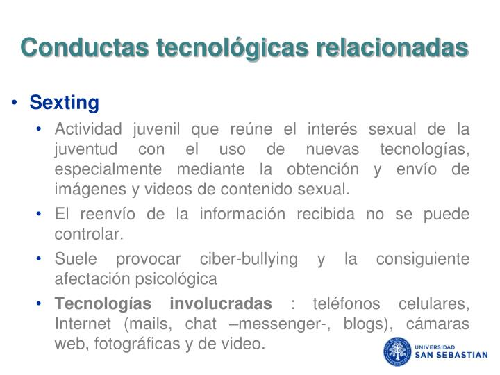 Conductas tecnológicas relacionadas