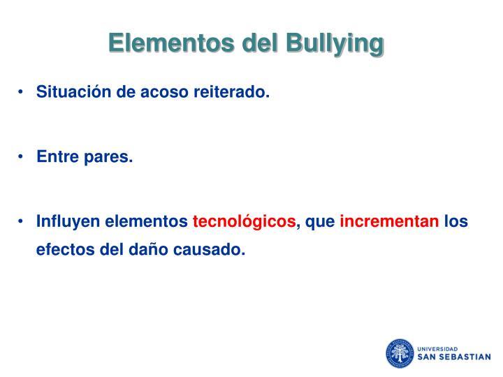 Elementos del Bullying