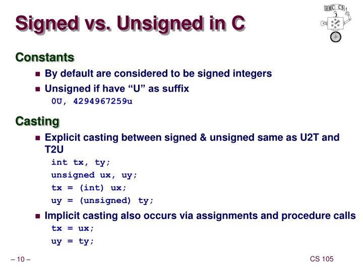 Signed vs. Unsigned in C