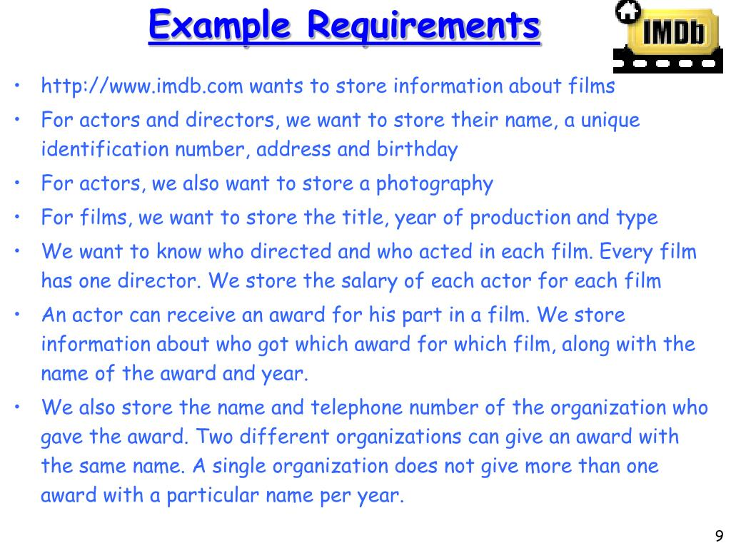 Example Requirements
