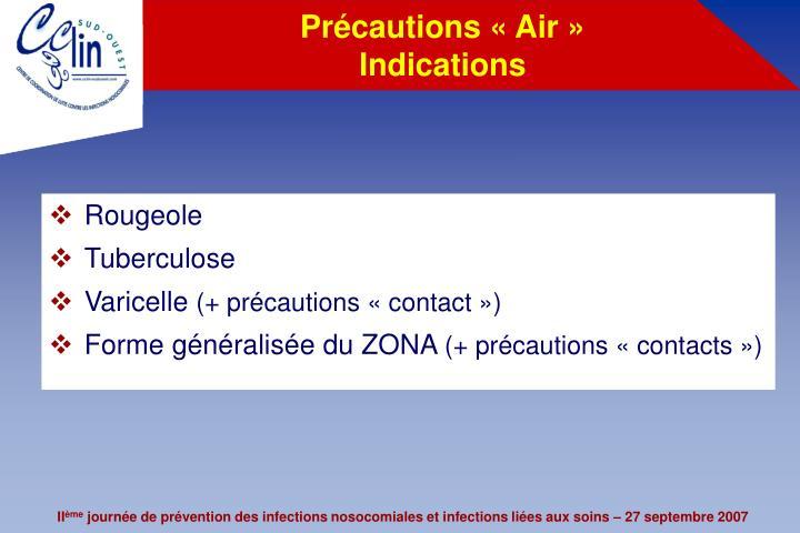 Précautions «Air»
