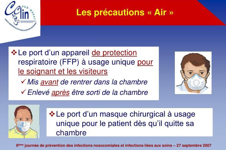 Les précautions «Air»
