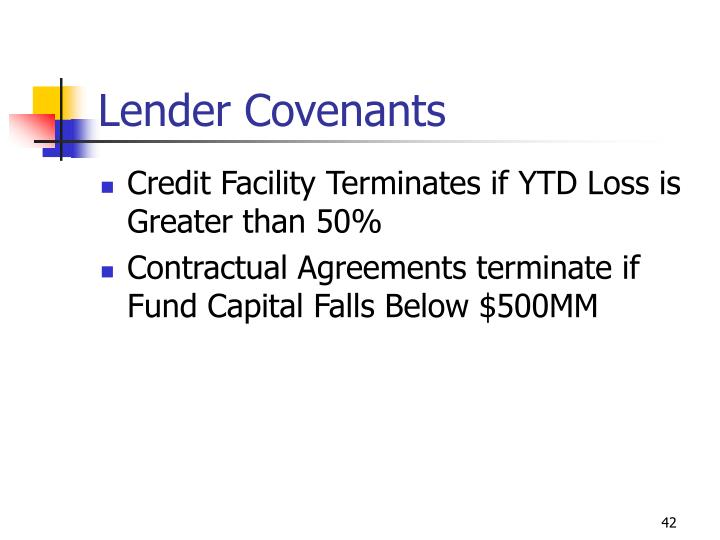 Lender Covenants