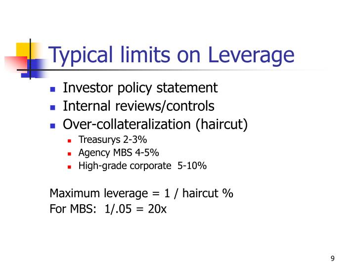 Typical limits on Leverage