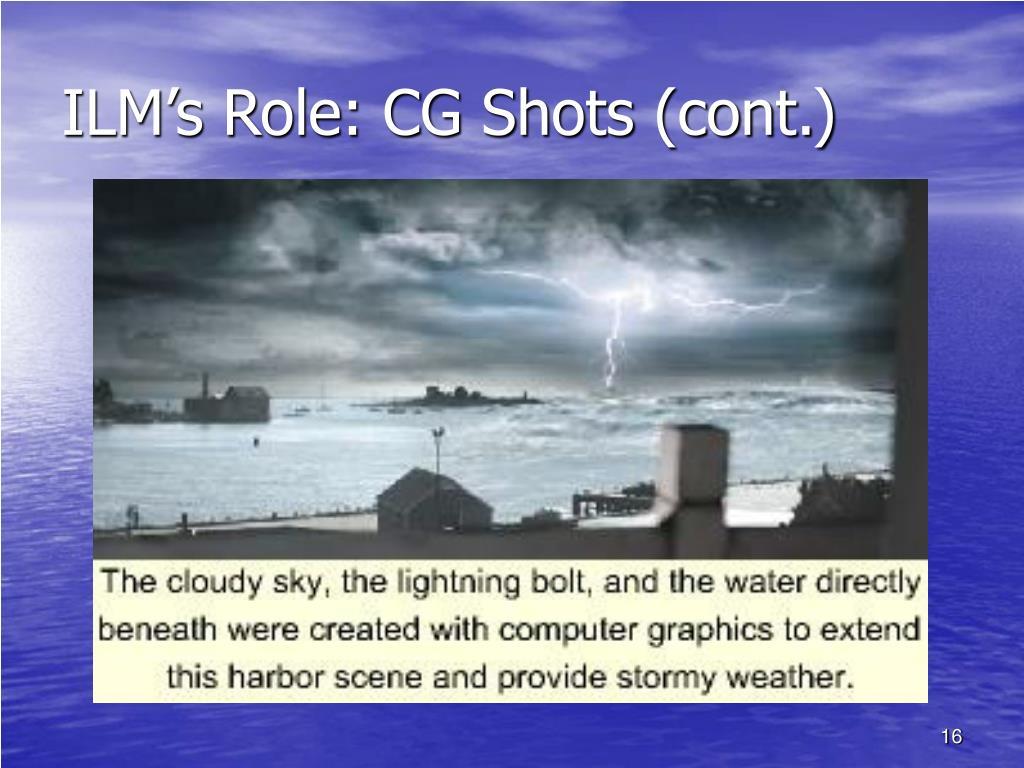 ILM's Role: CG Shots (cont.)