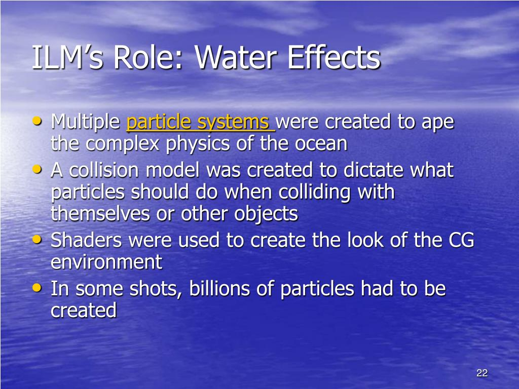 ILM's Role: Water Effects
