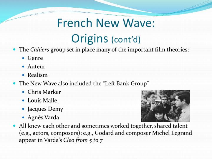French new wave origins cont d