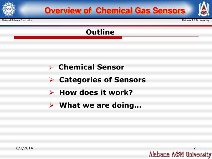Overview of  Chemical Gas Sensors