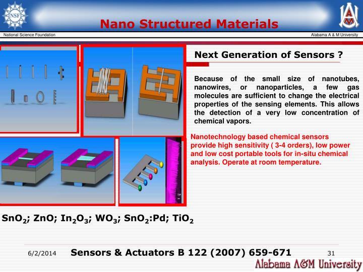Nano Structured Materials