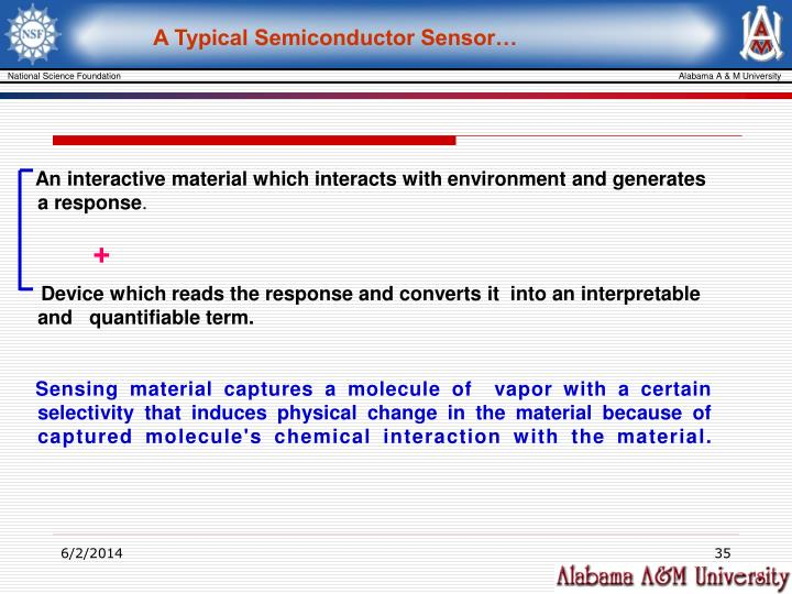 A Typical Semiconductor Sensor…