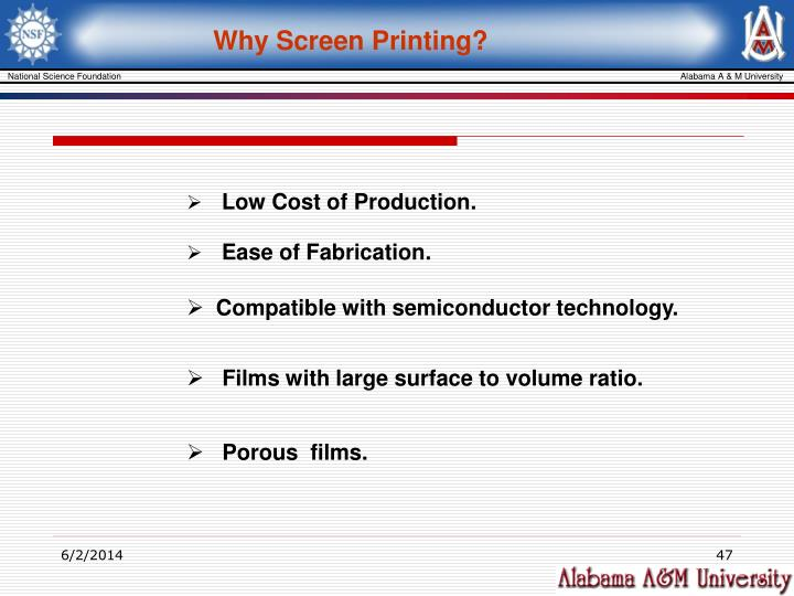 Why Screen Printing?