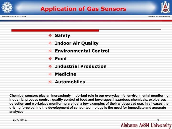Application of Gas Sensors
