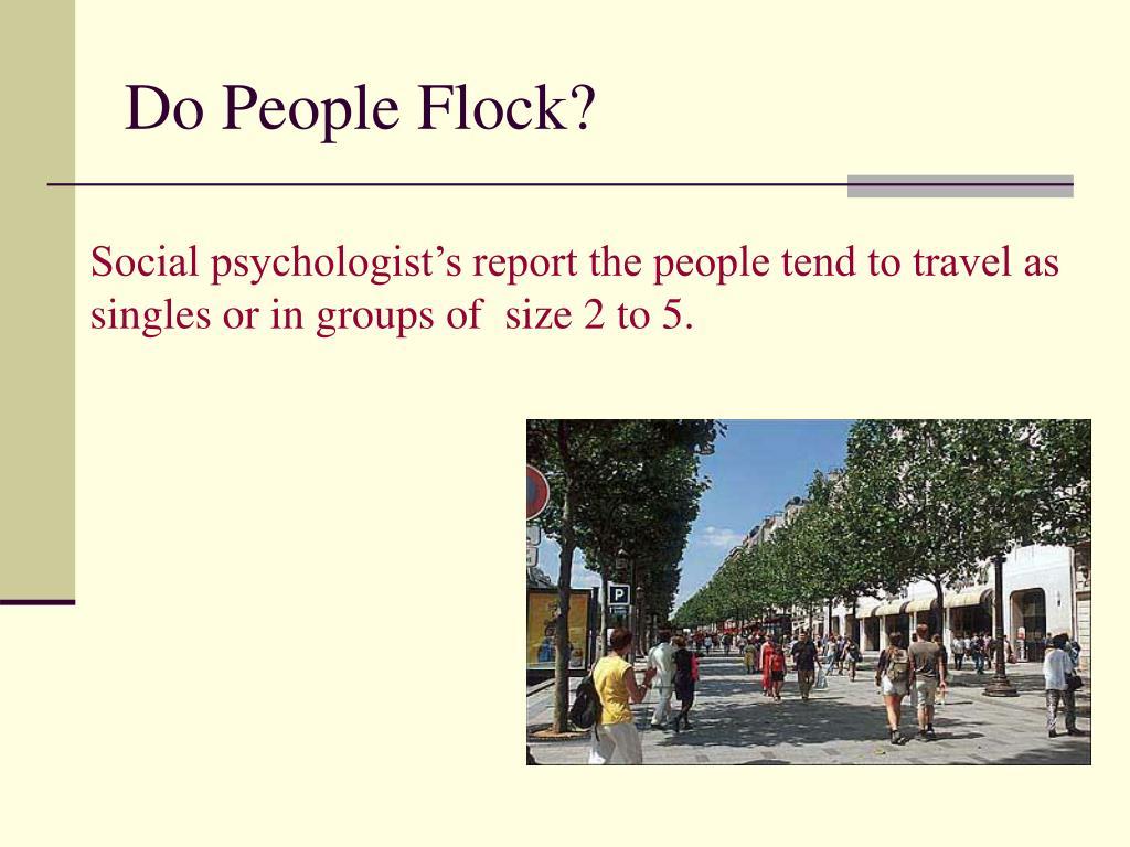 Do People Flock?