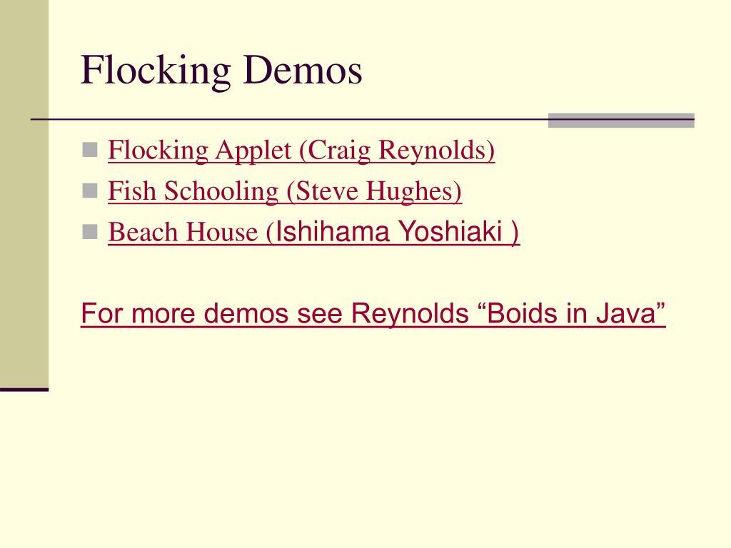 Flocking Demos