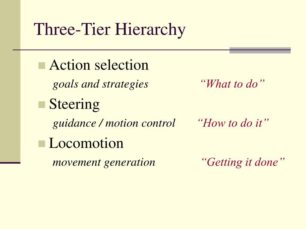 Three-Tier Hierarchy