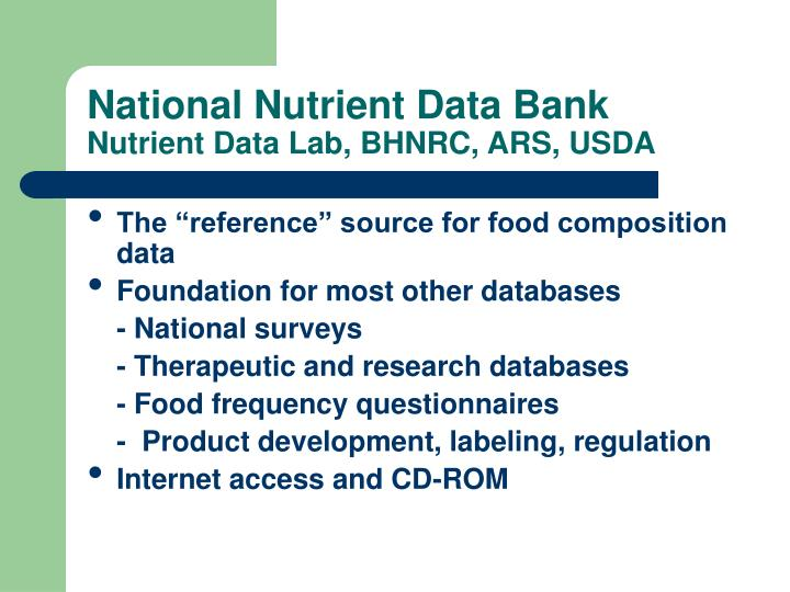 Nutrition Data System for Research – Nutritional Analysis Software