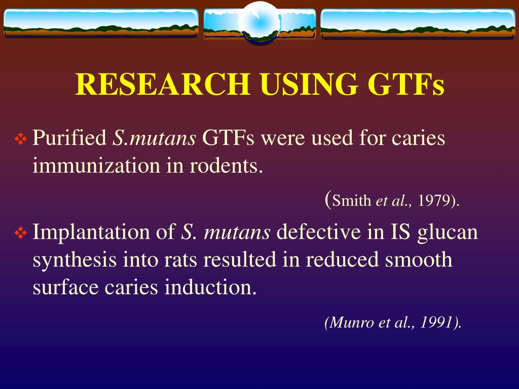 RESEARCH USING GTFs