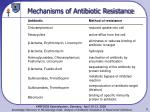 mechanisms of antibiotic resistance9