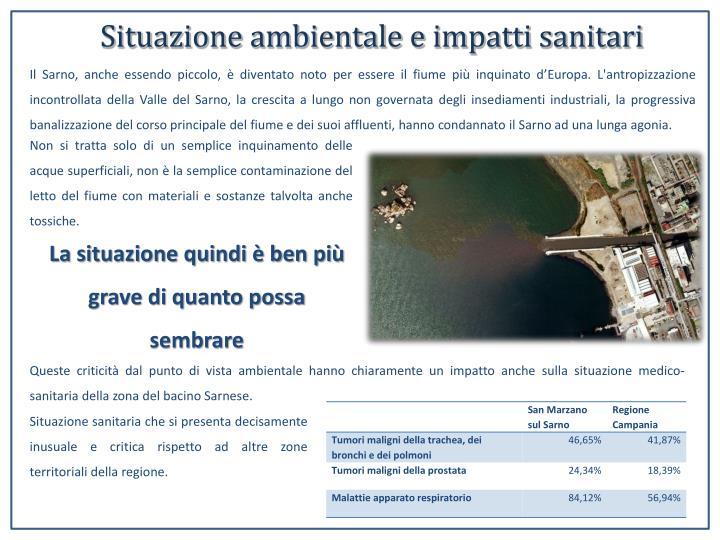 Situazione ambientale e impatti sanitari