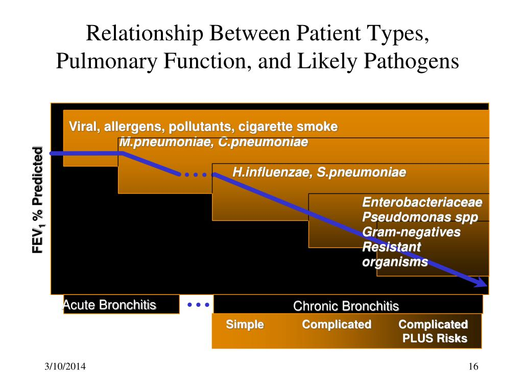 Relationship Between Patient Types, Pulmonary Function, and Likely Pathogens
