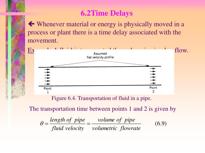 The transportation time between points 1 and 2 is given by
