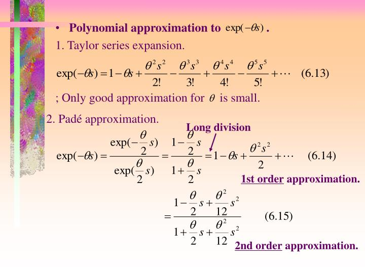 Polynomial approximation to               .
