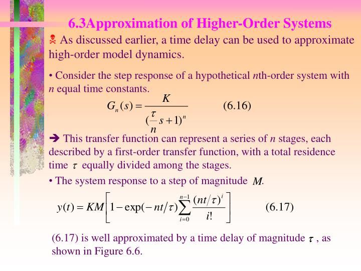 This transfer function can represent a series of