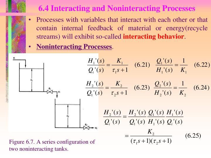 6.4 Interacting and Noninteracting Processes