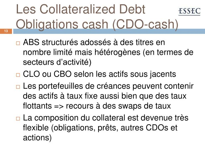 Les Collateralized Debt