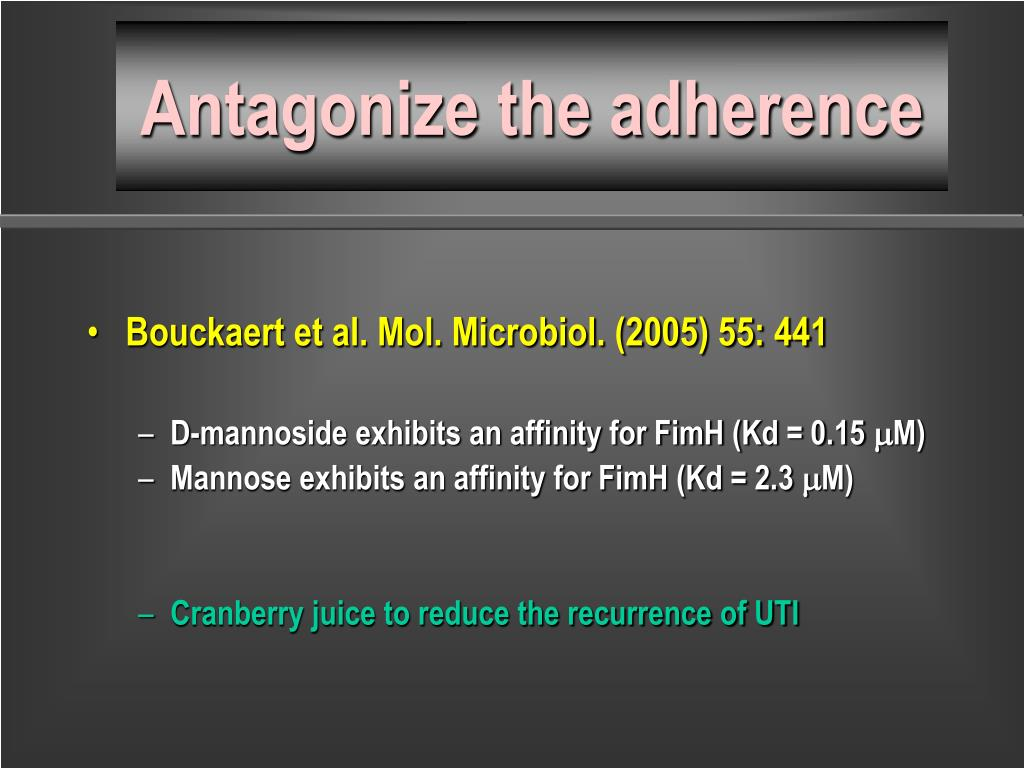 Antagonize the adherence