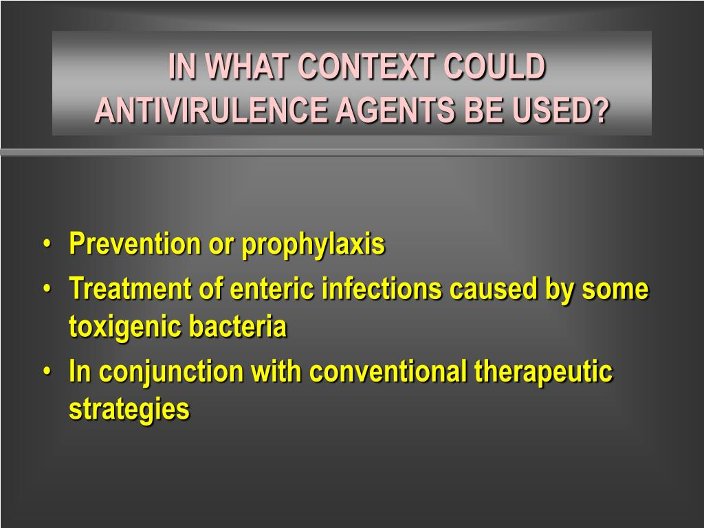 Prevention or prophylaxis