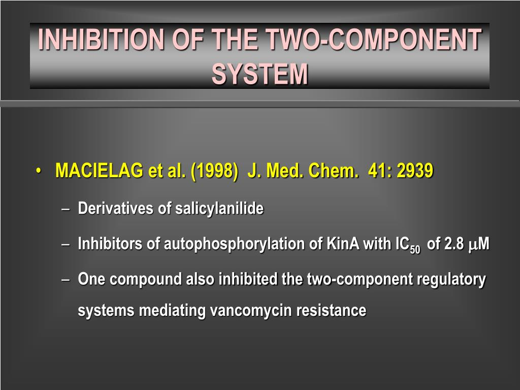 INHIBITION OF THE TWO-COMPONENT SYSTEM