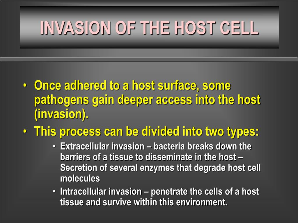 INVASION OF THE HOST CELL