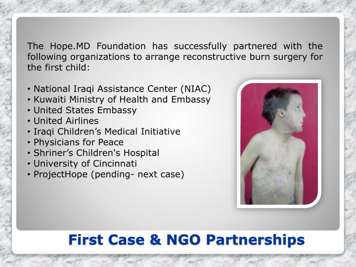 The Hope.MD Foundation has successfully partnered with the following