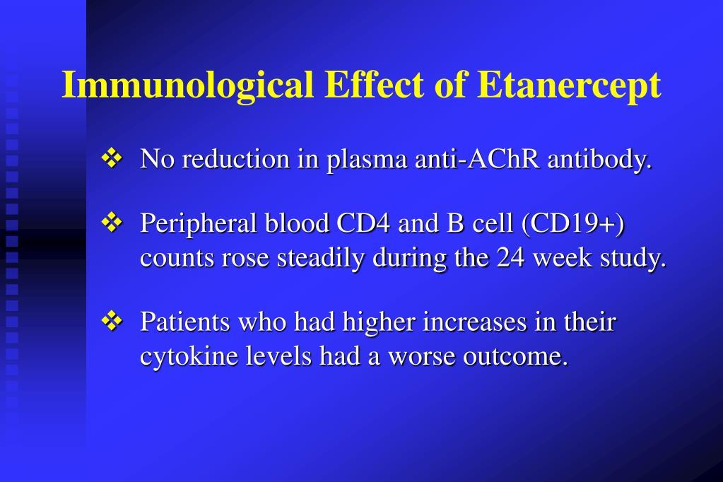 Immunological Effect of Etanercept