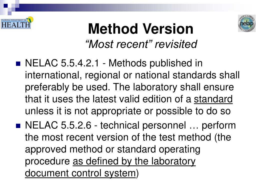 Method Version