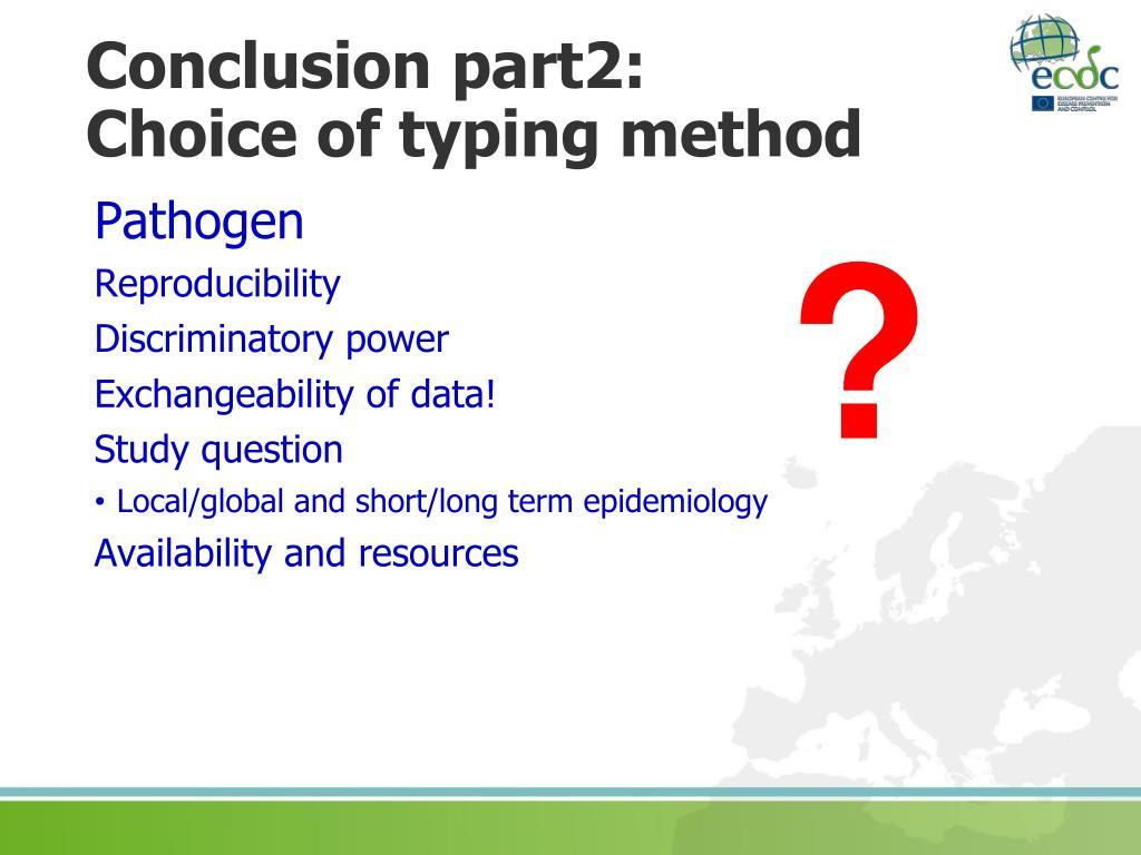Conclusion part2: