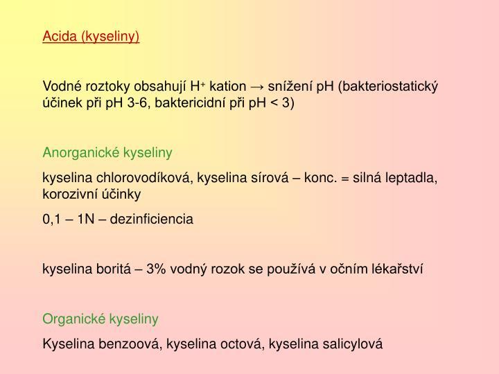 Acida (kyseliny)