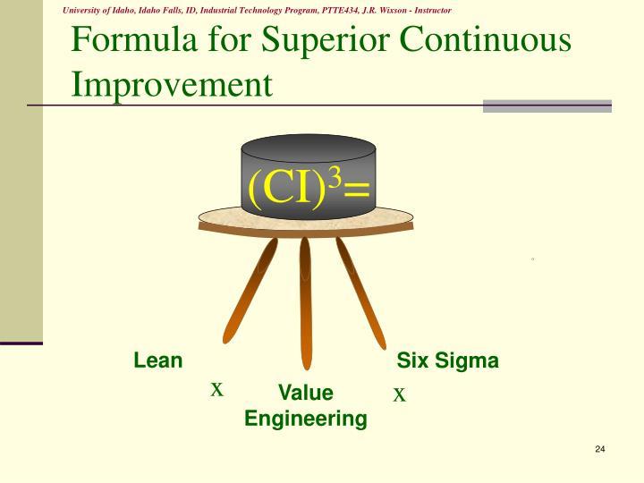 Formula for Superior Continuous Improvement