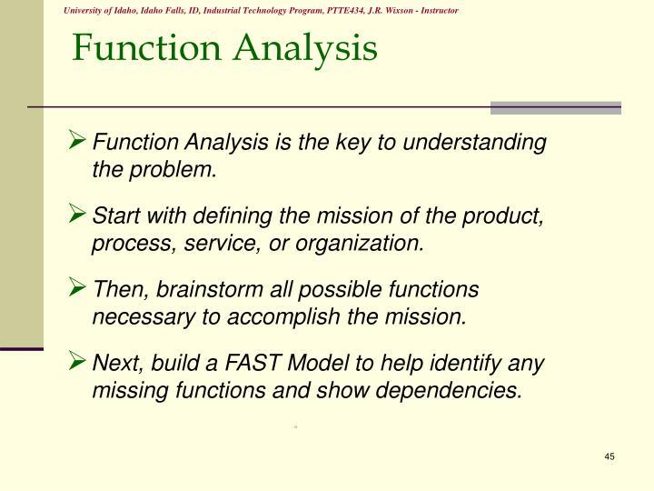 Function Analysis