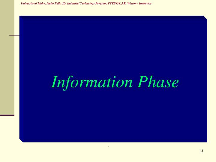 Information Phase