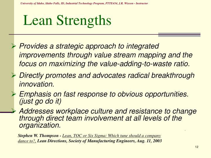 Lean Strengths