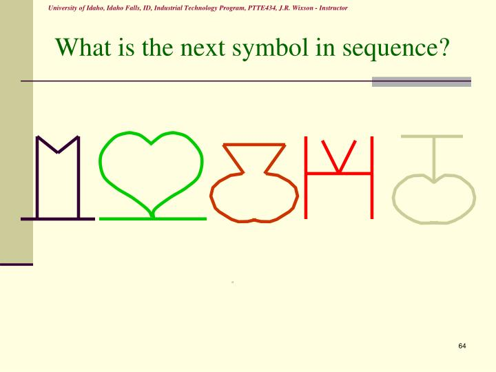 What is the next symbol in sequence?
