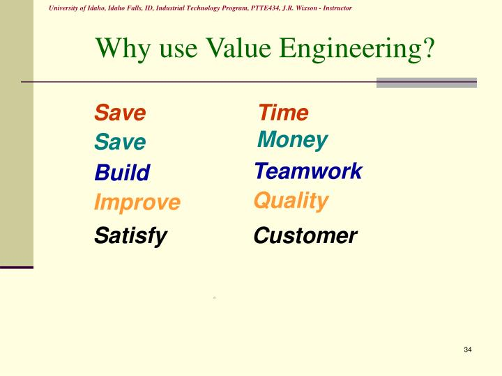 Why use Value Engineering?