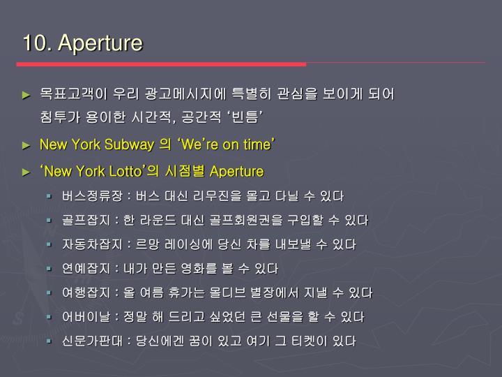 10. Aperture
