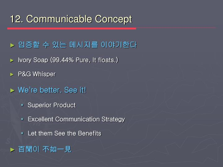 12. Communicable Concept