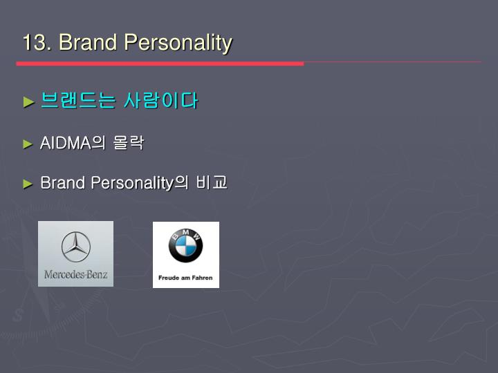 13. Brand Personality