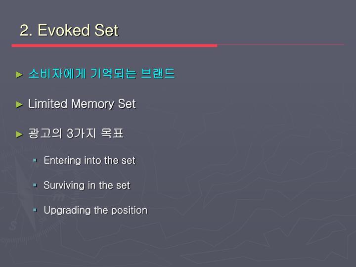 2. Evoked Set